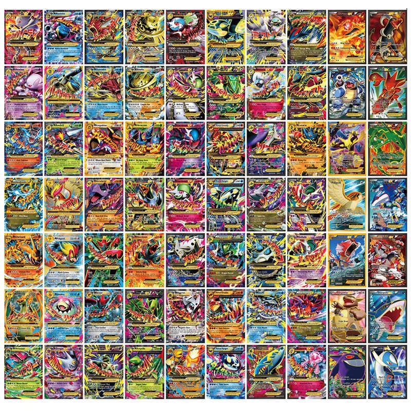 Không Lặp Lại Bộ 200 GX 100 EX Mega Lắc Thẻ Trò Chơi Trận Carte Giao Dịch Tiếng Anh Pokemones Engry Huấn Luyện Viên Thẻ Trẻ Em đồ Chơi Quà Tặng