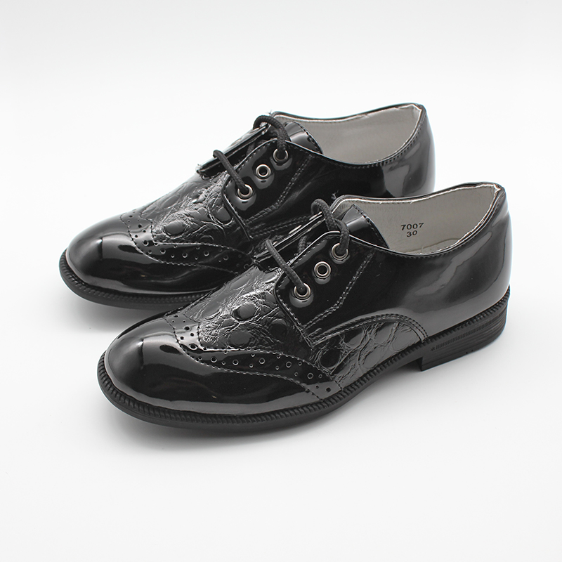 Boys Oxford Shoes Kids Brogue Shoes Boys Formal Classic Shoes Leather Shoes Mother & Kids - title=