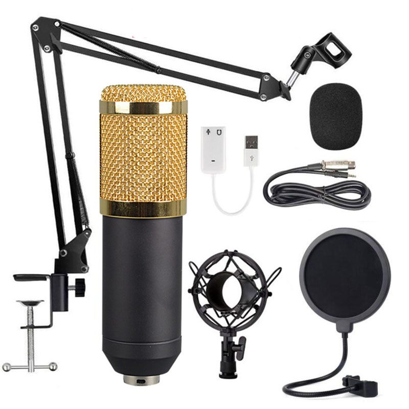 BM 800 microphone professional capacitance 3.5mm wired with filter V8 sound card recording microphone for KTV karaoke computer