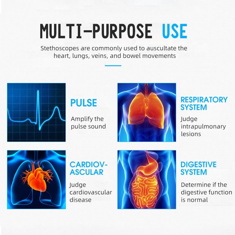 Professional Heart Lung Cardiology Stethoscope Medical Dual Head Doctor Stethoscope Doctor Medical Equipment Device Estetoscopio 1