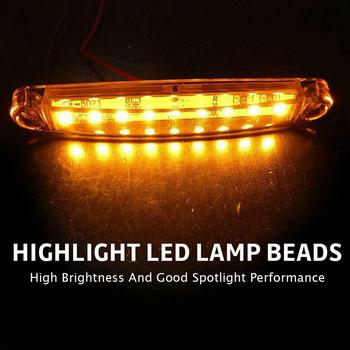 30Pcs Durable Amber 9-LED Truck Trailer Lorry Sealed Side Marker Clearance Light Indicator Lamps Trailer Light Rear Side Lamp цена 2017
