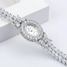 Herhome Qualtiy AAA Zircon Elements Leaf Austrian Crystal Bracelet Watch for Wed