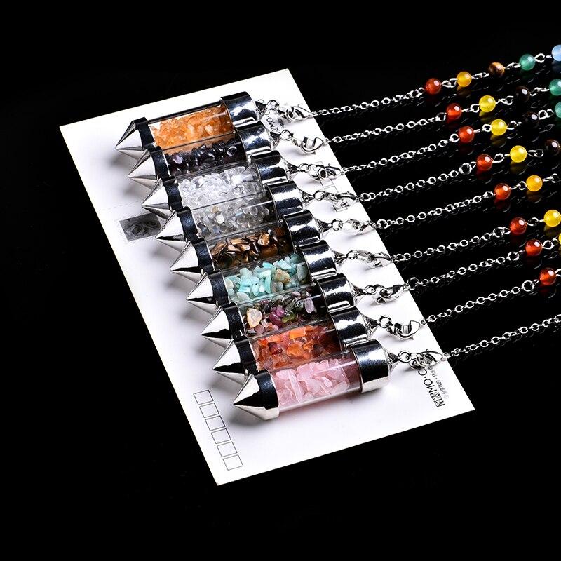 1 шт. натуральные кристаллические минеральные украшения, пуля, бутылочка для желаний, духовный конвертер энергии для йоги, домашний декор, у...