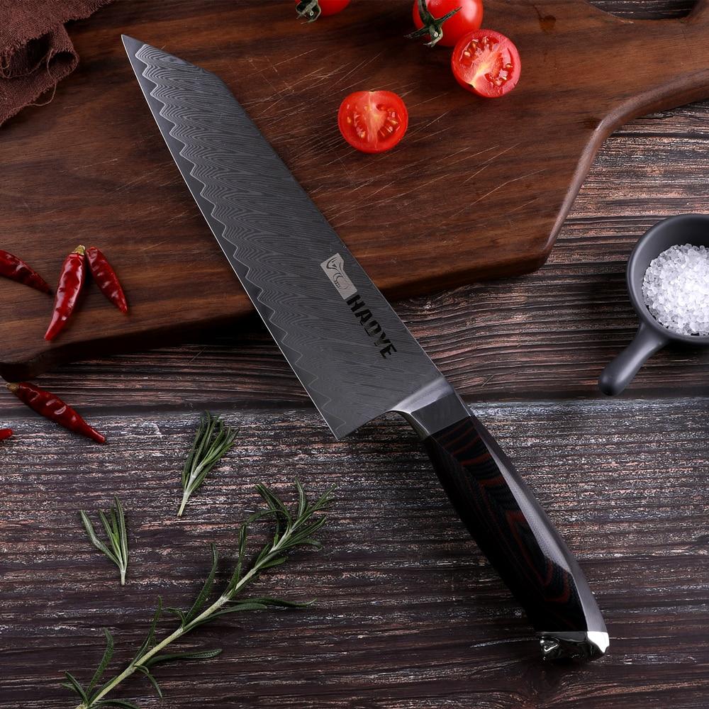 8 inch Damascus steel chef knife Japanese vg10 kitchen knives kiritsuke G10 handle handcraft sharp blade slicer Cutter fashion