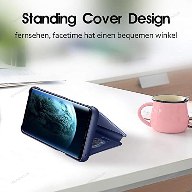 Smart Mirror Phone Case For Samsung Galaxy S20 S10 S9 S8 Plus Note 20 10 9 8 Pro J5 J7 2016 J4 J6 J8 2018 A51 A71 A50 A70 Cover