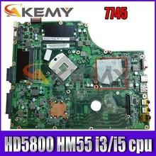 Материнская плата AKEMY MBPUP06001 MB.BPJ06.001 для ноутбука acer Aspire 7745, материнская плата DA0ZYBMB8E0 HD 5800 HM55 DDR3 i3 i5