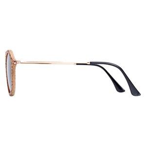 Image 5 - BARCUR Zebra Holz Sonnenbrille Handgemachte Runde Sonnenbrille Männer Polarisierte Brillen mit Box Freies