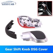 купить lexucar Modification Chrome Matte Gear Shift Knob Red DSG Cover Cap  For VW Golf MK6 MK7 R GTI Passat B7 B8 CC R20 Jetta MK6 дешево