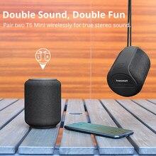 Oryginalny Tronsmart T6 Mini bezprzewodowy głośnik Bluetooth TWS zewnętrzna niskotonowa przenośna kolumna IPX6 z asystentem głosowym 24H Play