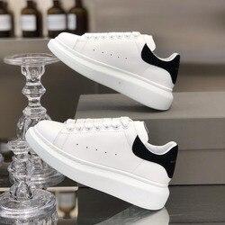 BELLECOM 2019Women's Kleine Witte mcqueen schoenen Ademend Muffin Dikke zolen Kant zapatos de mujer sapato feminino sneakers