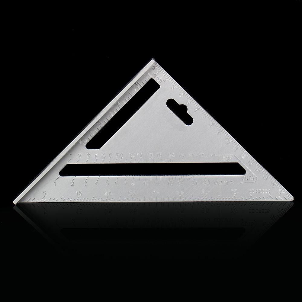 1Pcs Metric Aluminium Legierung Geschwindigkeit Holz Lineal Platz Layout Gehrung Dreieck Rafter Lineal Mess Schreiner Kennzeichnung Werkzeuge
