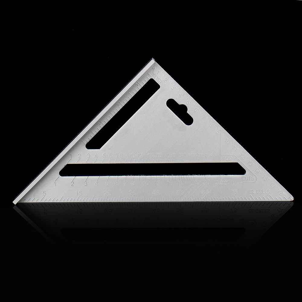 1Pcs Metric Aluminium Speed Houtbewerking Heerser Vierkante Layout Mijter Driehoek Rafter Liniaal Meten Timmerlieden Markering Gereedschap