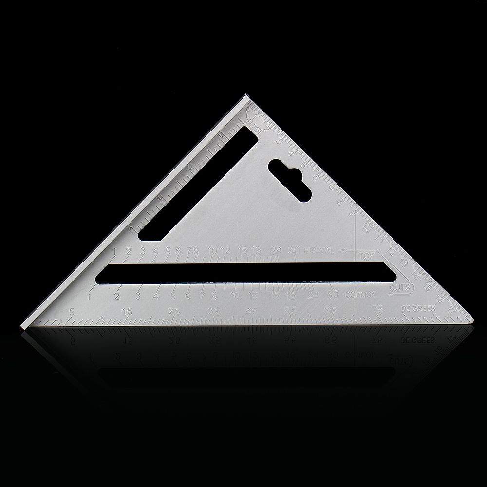 1Pcs Metric Aluminum Alloy Speed Woodworking Ruler Square Layout Miter Triangle Rafter Ruler Measuring Carpenters Marking Tools(China)
