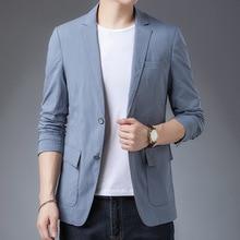 Men Jacket Blazers Leisure-Suit Americana Long-Sleeve Plus-Size Cotton 4XL Brand Blend