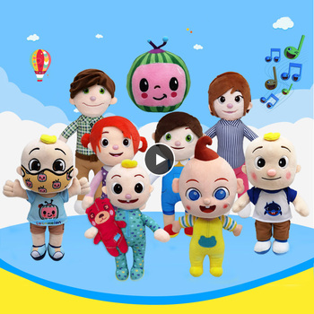 JJ Cocomelon Toy Musical Bedtime Soft Plush Doll For Baby Music Barbie Doll Family Kids Toys Birthday Gift Anime Plushie 1