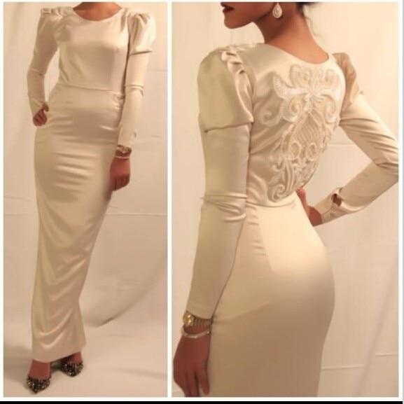 Robe De Soiree Vestido De Noiva Long Sleeve Sheath Evening Formal Dress Women Elegant Prom Gown Mother Of The Bride Dresses
