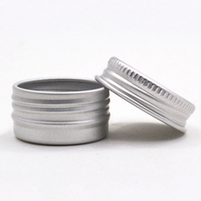 1PC Cosmetic Box Screw Top Cream Jar Metal Box Refillable Multifunction Portable Storage Container
