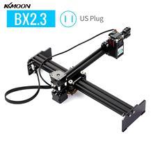 "KKMOON 20W במהירות גבוהה מיני שולחן העבודה לייזר חרט נייד DIY לייזר חריטת קאטר מכונת מדפסת עבור עץ עור ארה""ב תקע"