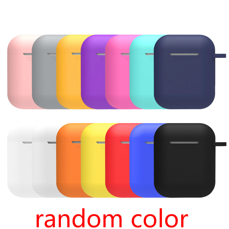 Multiple Colour Anti-lost And Drop Hook Protection Cover For Airpods Bluetooth Silicone  Wireless Headphones Drop-proof Covers