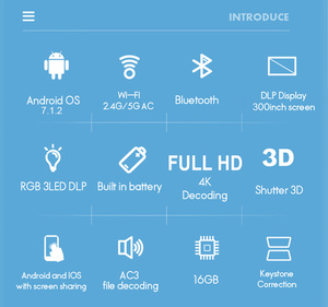 WZATCO D2 3D умный проектор Full HD 1920x1080 Android 7,1 5G wifi 300 дюймов проектор DLP поддержка 4K видео игры светодиодный проектор