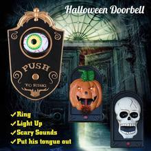 Halloween Party Decoration Doorbell Eyes Creepy Eyeballs Witch Pumpkin Home Door Decor Horror Props Electric Toy Scary