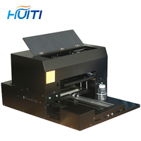 Leather painted printing embossed mobile phone shell pattern processing UV printing a3 small uv flatbed printer 8 color machine
