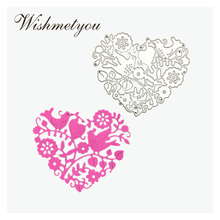 WISHMETYOU Branches Flowers Love Bird Metal Cutting Dies Cute Scrapbooking Craft Card Making Photo Album Embossing Crafts