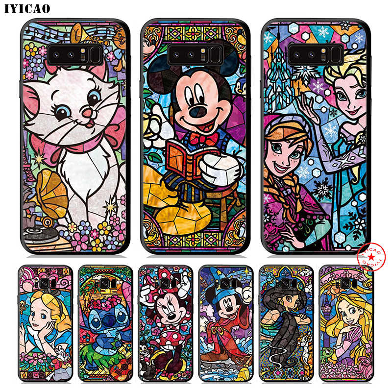 IYICAO Alice Stitch Mickey Mouse Soft Phone Case for Samsung Galaxy S10e S10 S9 S8 Plus S6 S7 Edge Note 10 Plus 9 8