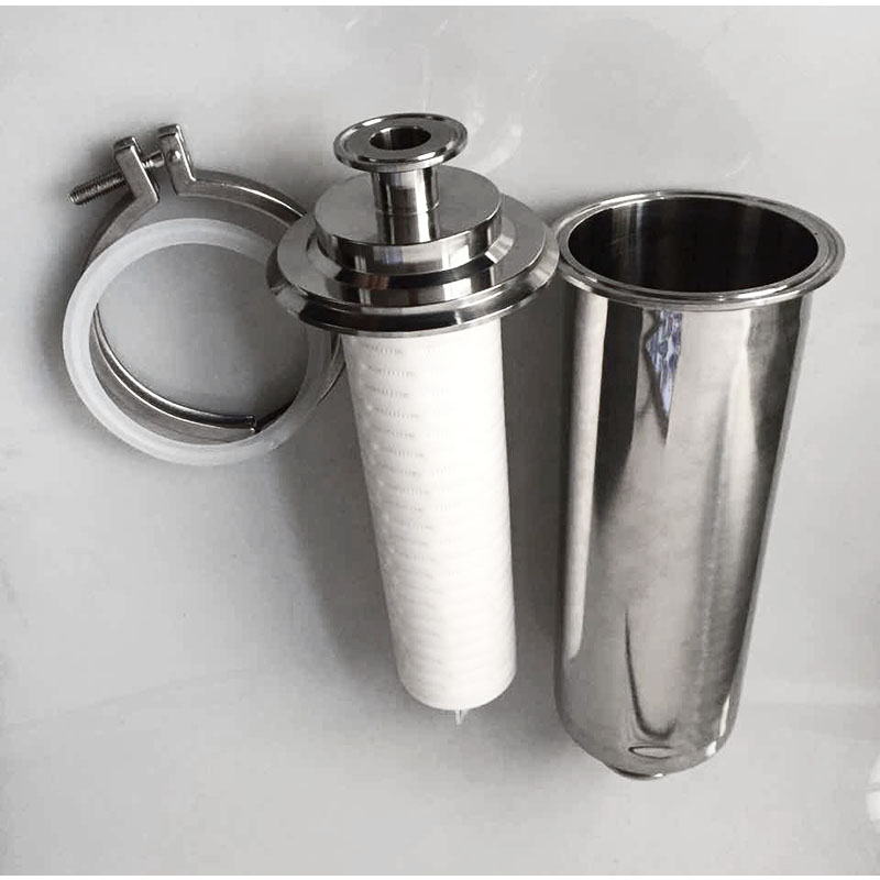 SUS304  Sanitary Pipe Filter Ferrule OD 50.5mm Air Filter Tri-clamp Strainer PPT Filter Element 5