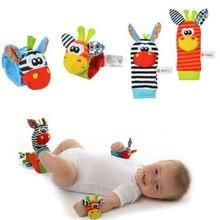 Venda quente pendurado aprendizagem precoce educar brinquedos do bebê infantil bebe chocalhos/meias pode fazer som brinquedo bonito para brinquedos do menino do bebê