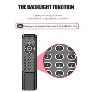 Image 4 - MT1 retroilluminato Gyro Wireless Fly Air Mouse 2.4G telecomando vocale intelligente per X96 mini H96 MAX X2 CUBE Android TV Box vs G20S PRO