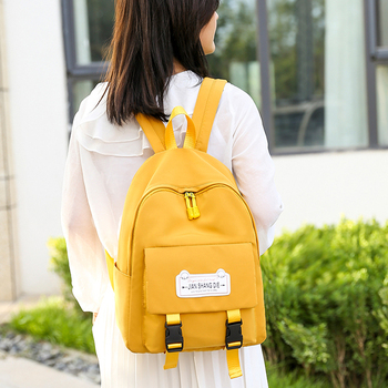 New fashion waterproof nylon backpack Women solid color schoolbag for Teenage girl backpacks Large capacity travel backpack book new unisex backpacks pure color bags drawstring backpack large capacity schoolbag shopping travel clother storage bags 10aug 13