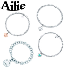 Ailey original high quality Tiff 925 sterling silver heart bracelet classic elegant fashion ladies jewelry couple gifts