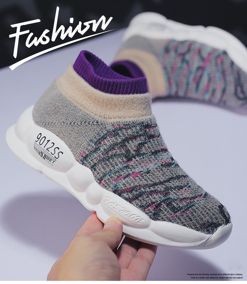 PINSEN 2019 Spring Autumn Children Sneakers Girls Shoes Fashion Kids Shoes Mesh Breathable Child Socks Shoes Boys Casual Shoes (13)