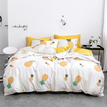 Yimeis Duvet Cover Set Single Double Bed Linen For Girls Cute Queen Size Bed Sheets Set BE45308(China)