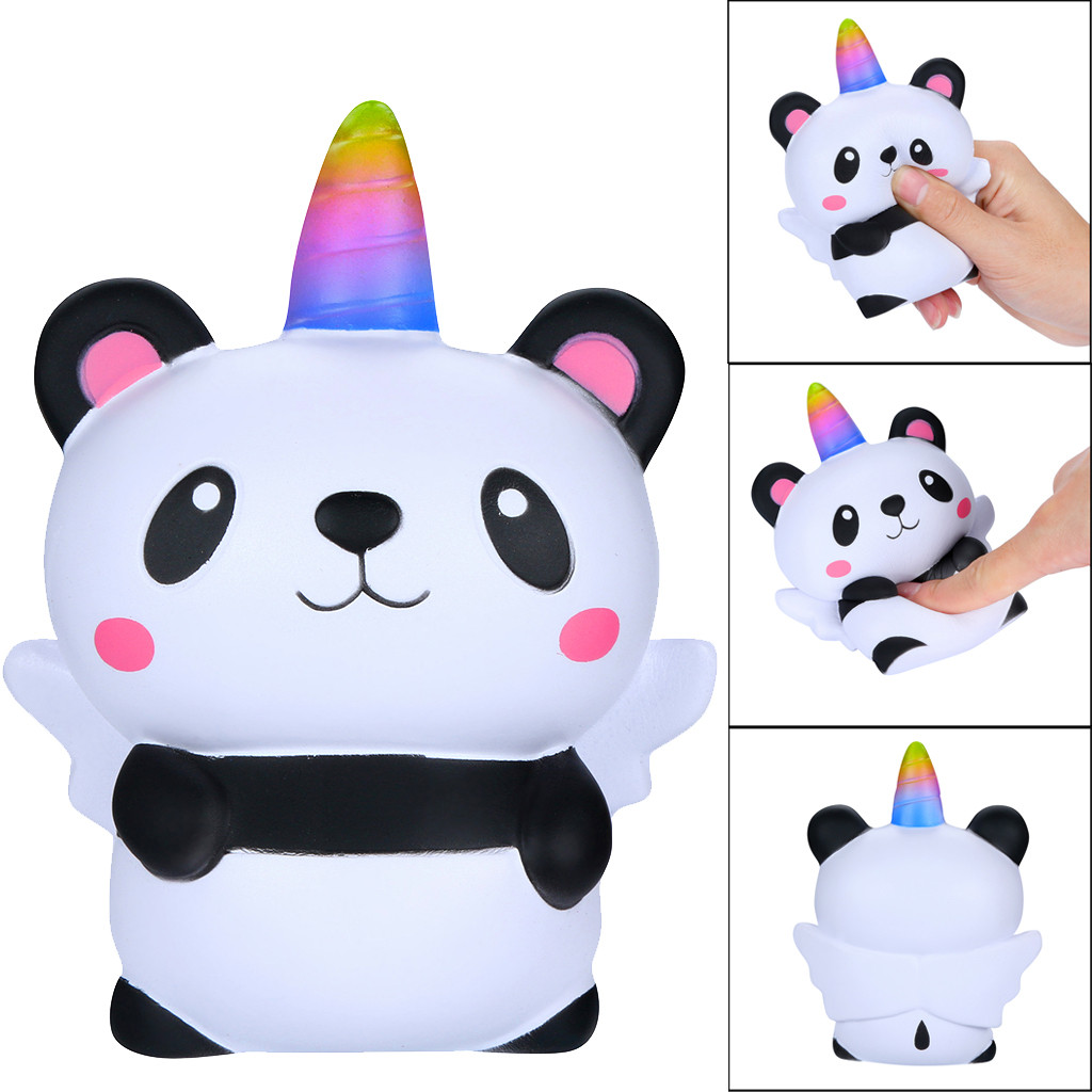 NEW Squeeze Soft Squishies Kawaii Cartoon Panda Angel Slow Rising Cream Scented Stress Relief Toy Funny Gift Antistrss Toys
