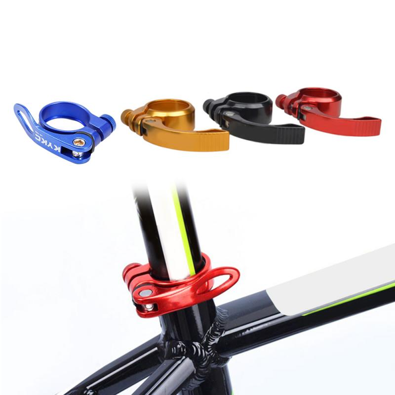 New 1 Pcs Aluminium Alloy Road Bike MTB Bicycle Seatpost Clamp Bike Seat Pipe Clamps Quick Release Seat Post Clamps