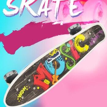 скейтборды дюйма для детей с изображением мультипликационных персонажей для детей Скейтборд клена двойным рокером палубе скейтборды четырех