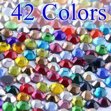 Cheap!1440pcs/Pack  DMC Hotfix Flatback ss16 Mixed Color Hot Fix Crystal Rhinestone DIY Iron-On Garment Stones