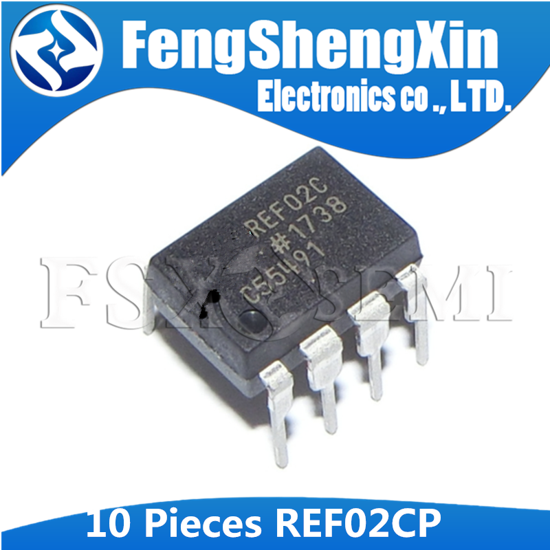 10pcs REF02CP DIP8 REF02 DIP-8 REF02C DIP  +5V Precision Voltage Reference/Temperature Trangsducer  IC