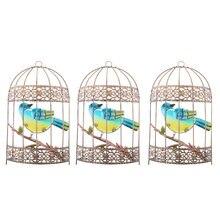3 шт металлическая птичья клетка