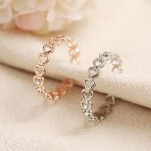 LATS Gold Silver Color Hollowed-out Heart Shape Open Ring Design Cute Fashion Love Jewelry for Women Girl Child Gifts Adjustable