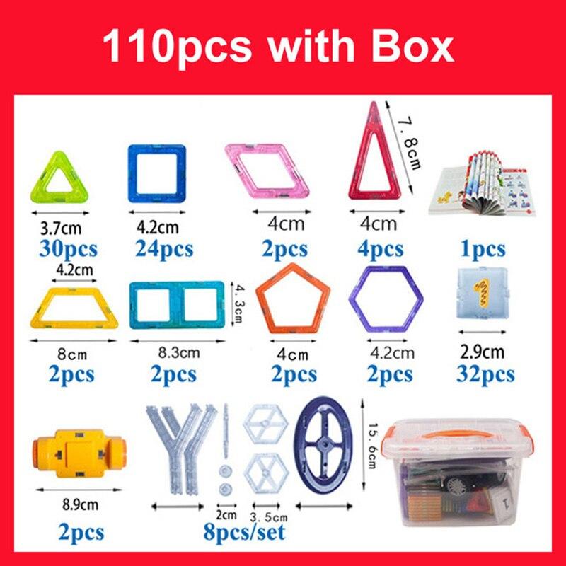 110PCS Mini Size Magnetic Blocks Constructor Toys Magnetic Designer Blocks Bricks 3D Model Building Toys For Children Gifts