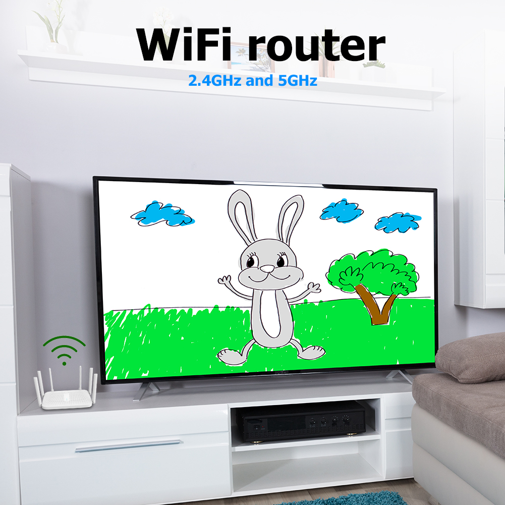 Xiaomi Router AC2100 2033Mbps 2.4G 5G Dual Band 128MB OpenWRT WiFi Router with 6 High Gain Antennas 2