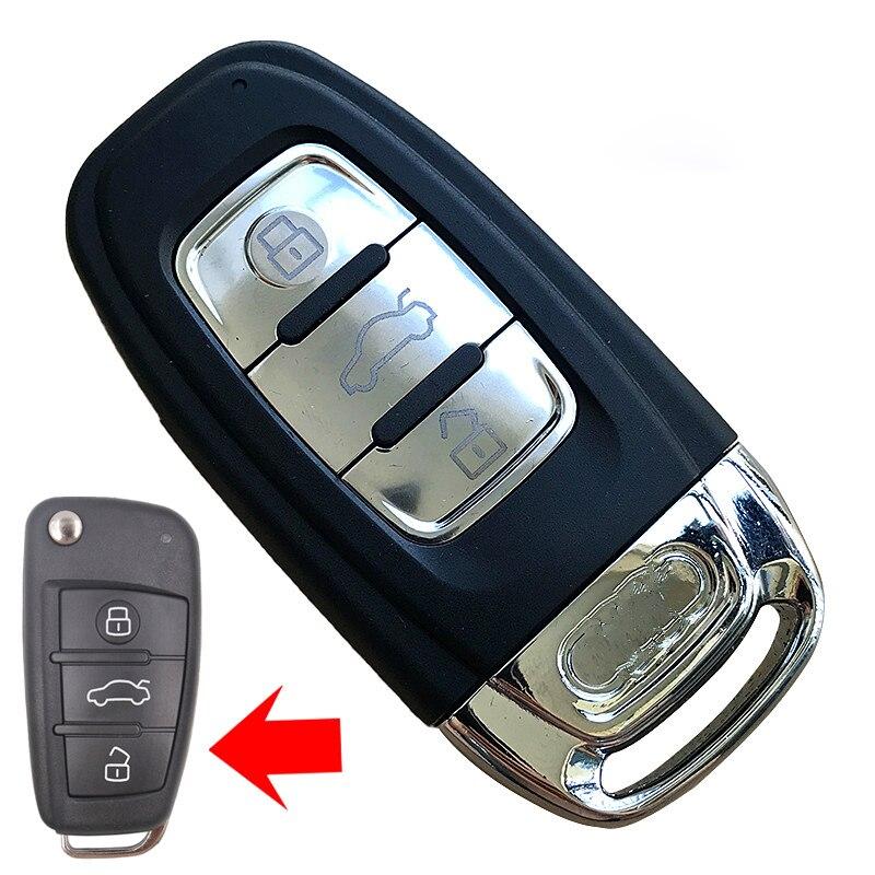 KEYECU-3-Button-Folding-Flip-Remote-Key-Shell-Case-Fob-for-Audi-A6L-Q7-A2-A3_副本