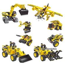 Fit  Technic Creator 2in1 City Engineering Vehicles Truck Excavator Bulldozer Educational Building Blocks Toys Children