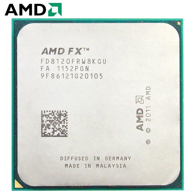 AMD FX-Series FX 8120 AM3+ 3.1GHz 8MB 125W processador Eight Core CPU processor 1