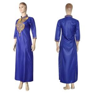 Image 3 - MD רקום פרח אפריקאי שמלות לנשים 2020 Bazin Riche דרום אפריקה בגדי גבירותיי שמלות אנקרה דאשיקי חלוק Boubou