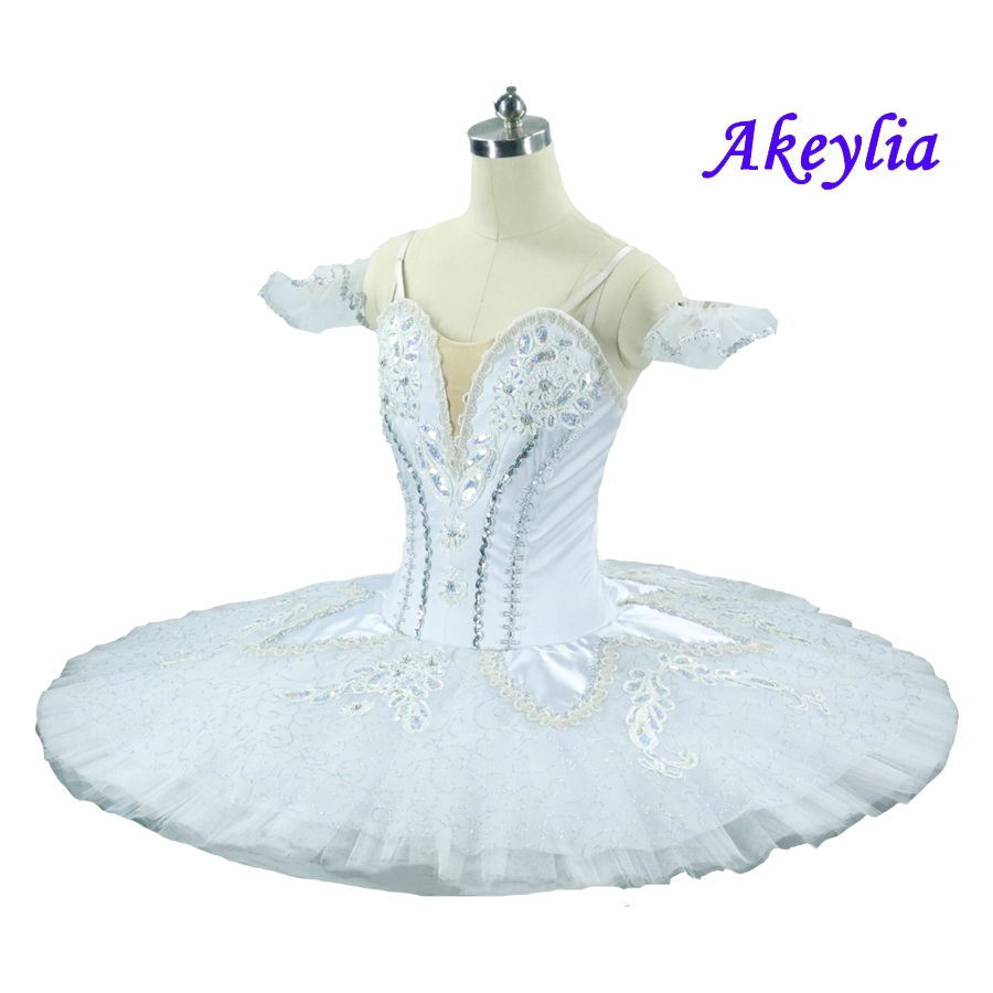 Free Shipping White Platter Tutu Women Sugar Plum Fairy Professional Dance Costume Adult Ballerina Stage Tutu Dress in Ballet from Novelty Special Use