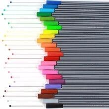 0,4 мм 24 цвета Fineliner игольчатый наконечник маркер чернила на водной основе набор для художественной живописи L41E